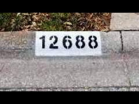 Painting House Numbers On Curb