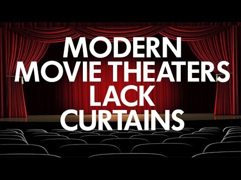 Modern Digital Movie Theaters Lack Curtains
