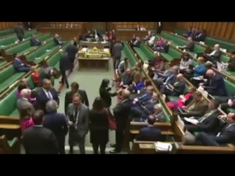 SNP MPs sing Ode To Joy during Brexit Bill vote