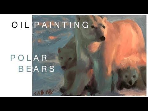 Oil Painting: Polar Bears