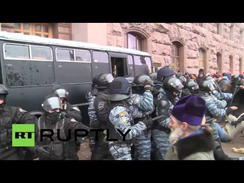Ukraine: Police storm