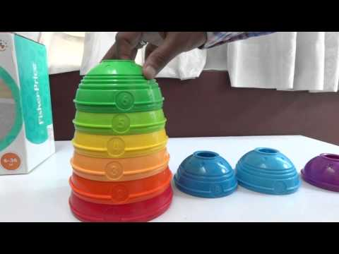 Baby Toys |Fisher-Price Brilliant Basics Stack & Roll Cups