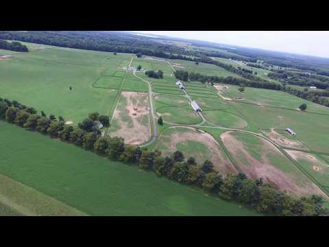 Aerial Video of Rural Chesapeake City, Maryland