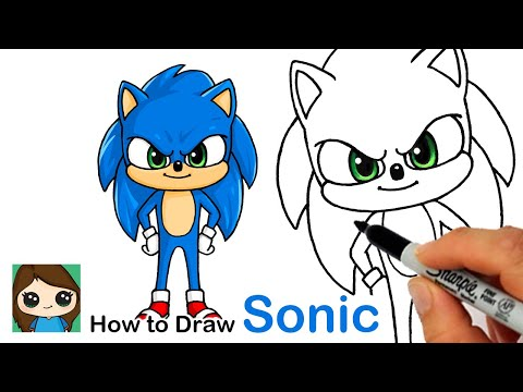 How To Draw Sonic The Hedgehog New Youtube