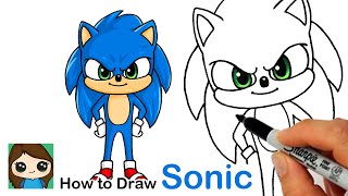 How to Draw Sonic the Hedgehog New