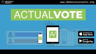 Introducing Actual Vote How sure are you that the vote totals in your area are being reported correctly? Actual Vote is a free app from Democracy Counts that empowers users to ..., From YouTubeVideos