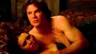 Damon and Elena 6x21 HD barn sex scene
