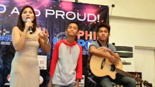 YouTube singing sensation Aldrich Talonding performs 2014 PhilPop's song