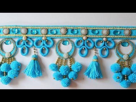Diy Woolen Door Toran/ Diy Woolen Craft Idea/ Decoration Idea From Woolen 188