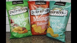 Deep River Snacks Potato Chips: All Dressed Up, Mango Habanero, Sea Salt & Apple Cider Vinegar