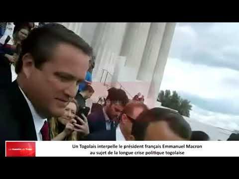 Un Togolais interpelle le président français Emmanuel Macron sur la situation du Togo