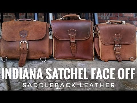 Maybe the Best Leather Satchel??? Indiana Satchel Face-OFF | Saddleback Leather