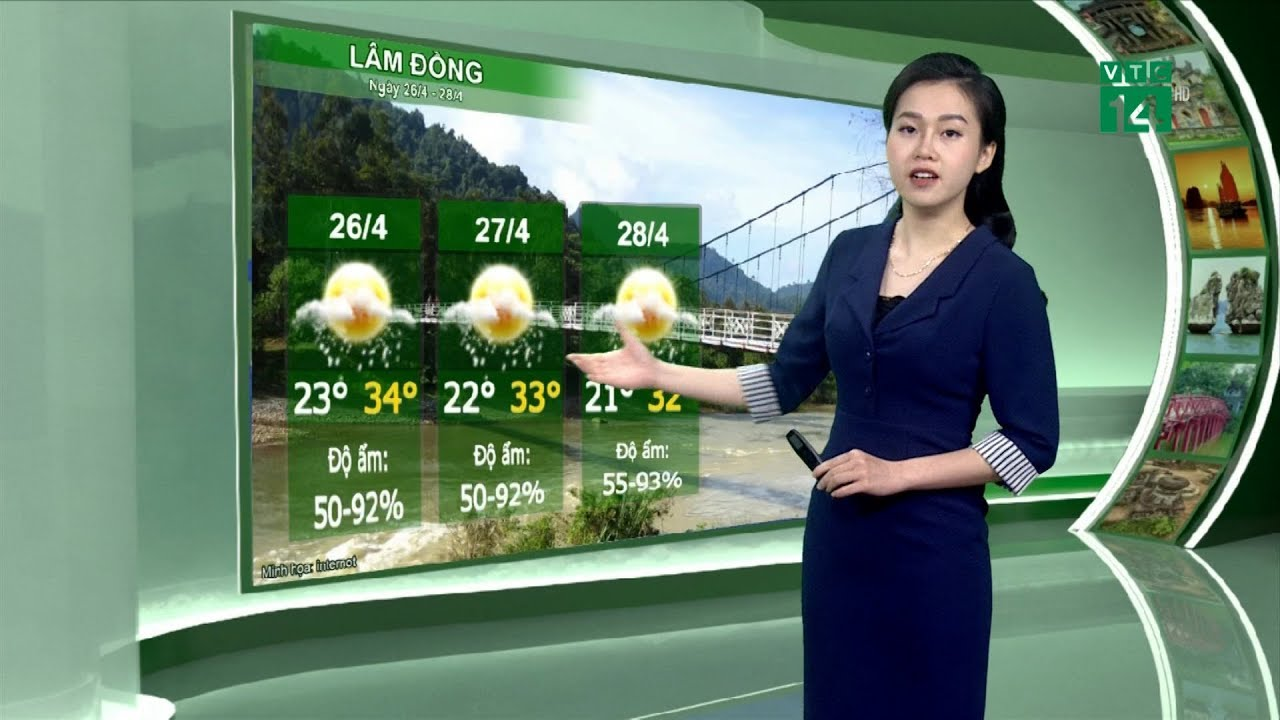 Thời tiết du lịch 25/04/2019: Lâm Đồng phổ biến có mưa vài nơi, ngày nắng | VTC14