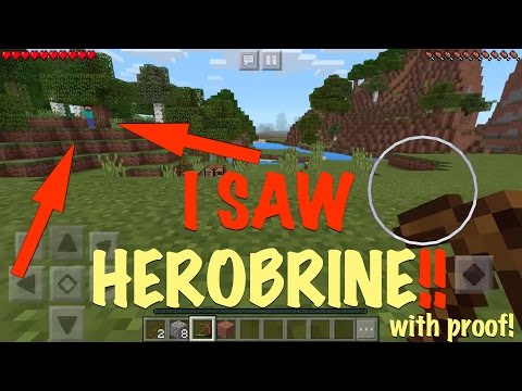 (REAL WITH PROOF) I SAW HEROBRINE IN MINECRAFT PE 0.16.0!!! MOJANG SENT HIM TO KILL ME!!
