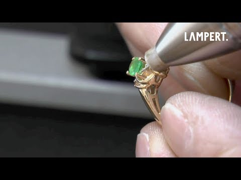 PUK5 Welding device – Retipping a prong on an emerald ring