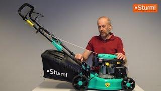 Обзор бензиновой газонокосилки Sturm! PL4214
