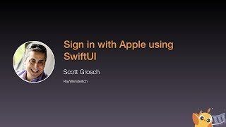 Sign in with Apple using SwiftUI - iOS Conf SG 2020