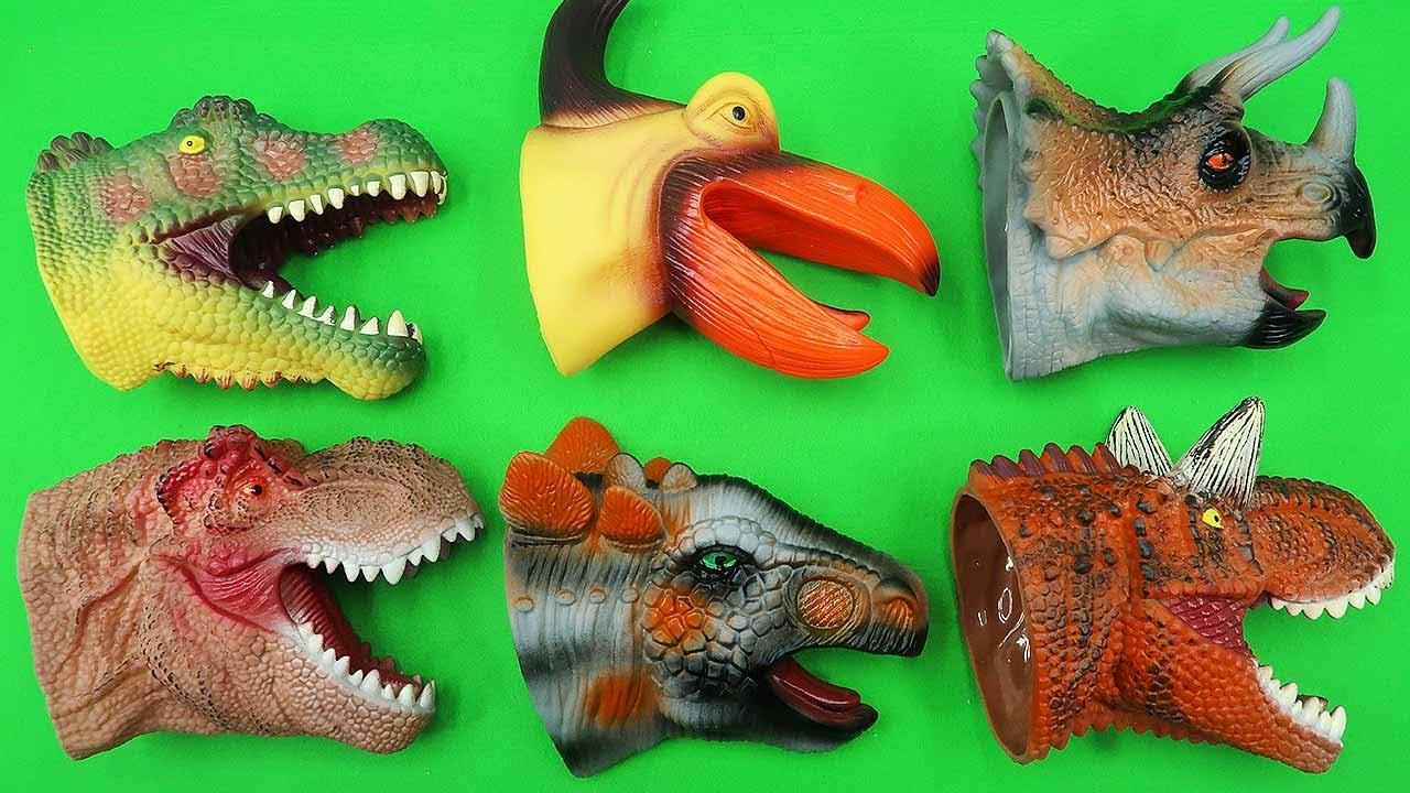 6 NEW DINOSAUR HEADS. Jurassic World Dinosaurs Head Finding! Pteranodon, T-Rex, Stegosaurus