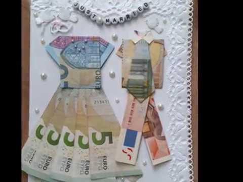 DIY Hochzeitskarte selbst gestalten  Teil 1 Herrenanzug aus Geld falten  Tolle Geldgeschenke