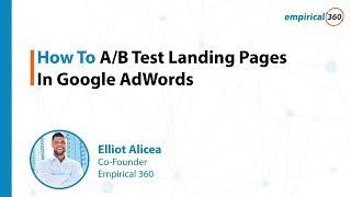 Hoe AB Test Landing Pagina ' s In Google AdWords