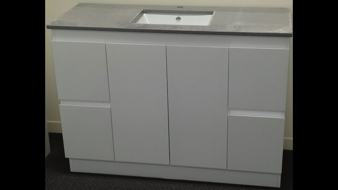 Buy bathroom caesarstone vanity in melbourne grey 1200 for Bathroom cabinets melbourne