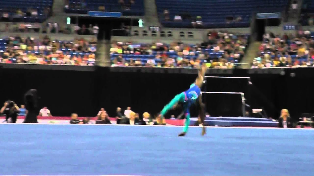 Simone Biles Floor Visa Championships Jr Women Day 2