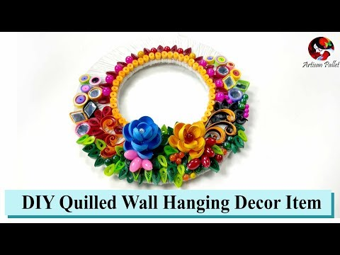 DIY Quilled Wall Hanging Room Decorative Item   quilling designs for wall hangings