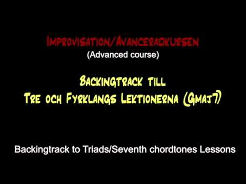 Backing track - Alternative arpeggios to maj7 chord (Gmaj7)