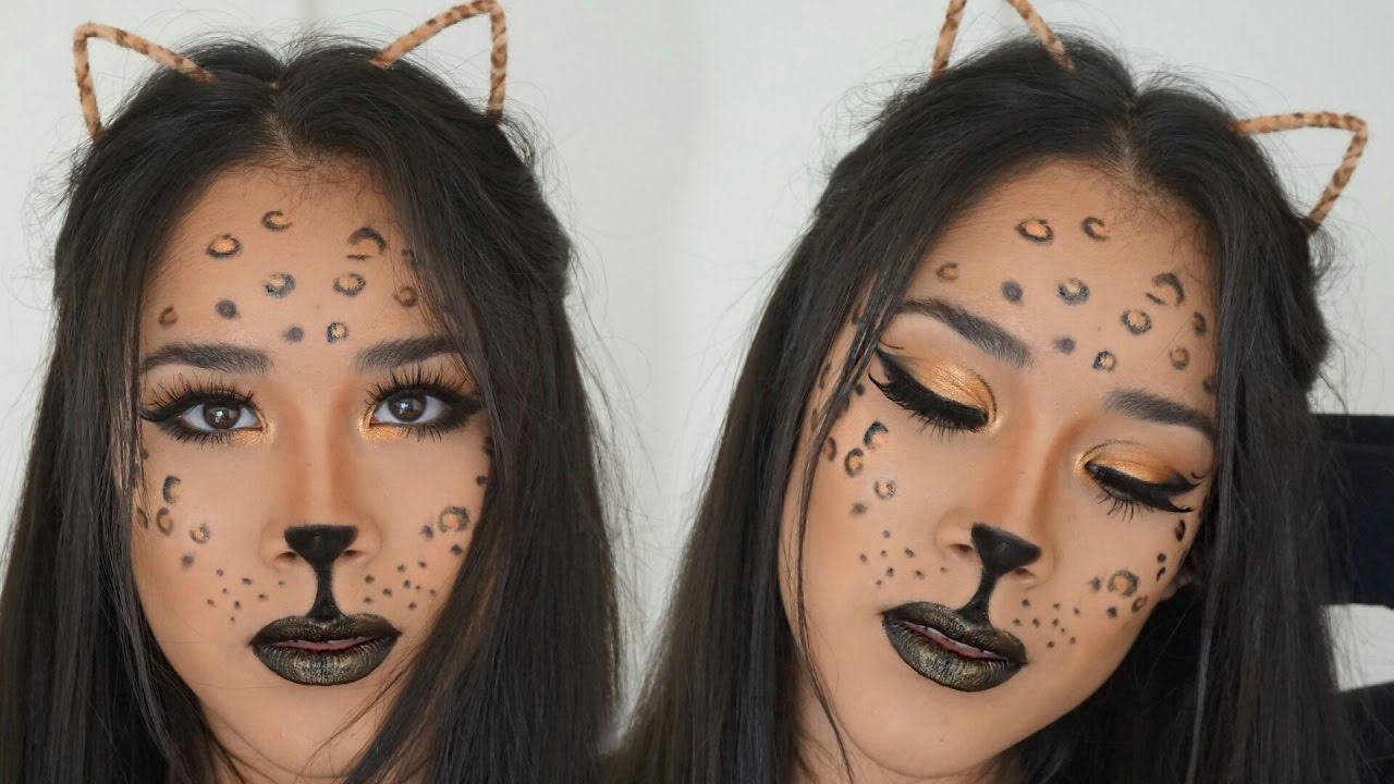 Pretty leopard makeup tutorial for halloween – domesticated me.