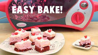 Easy Bake Oven Strawberry and Red Velvet Miniature Cake Baking