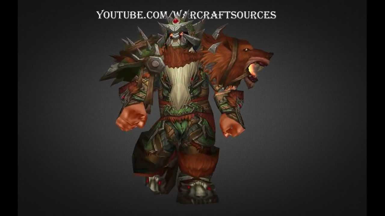 Dwarf Hunter Challenge Mode Set Howling Beast Armor