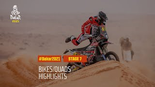#DAKAR2021 - Stage 7 - Ha'il / Sakaka - Bike/Quad Highlights
