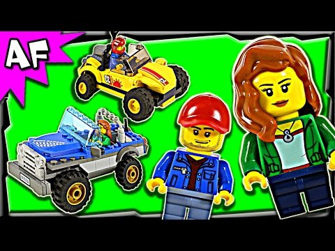 Lego City DUNE BUGGY Trailer 60082 Stop Motion Build Review