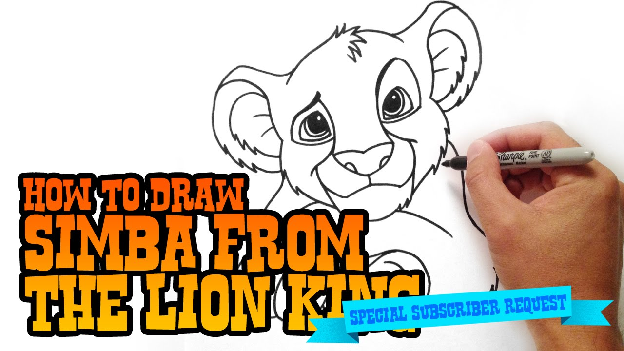 Uncategorized How To Draw The Lion King how to draw simba from lion king step by video youtube