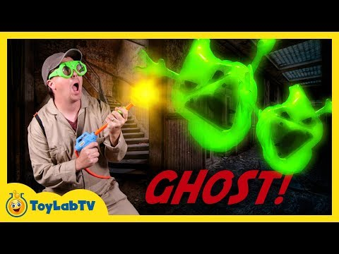 Halloween for Kids Pretend Play Haunted House! Spooky Ghost Hunt Story with Family Fun Blaster Toys