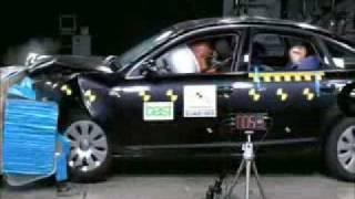 Краш-тест Audi A6 от EuroNCAP. Фронтальный удар