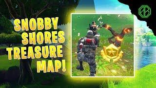 SNOBBY SHORES TREASURE MAP LOCATION! (Fortnite Battle Royale)
