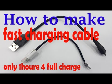 How To Make Fast Charging Cable And Data Cable At Home | 2018