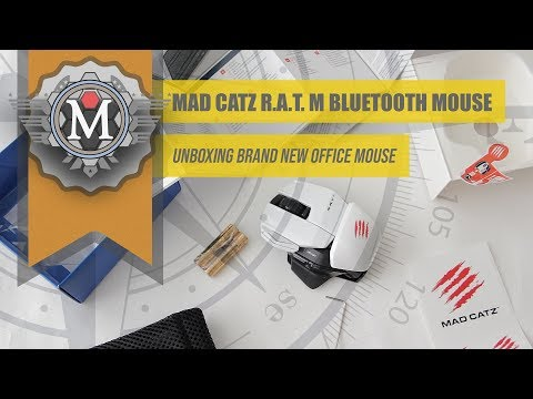 BRAND NEW UNBOXING Mad Catz R.A.T. M Office Bluetooth White Mouse