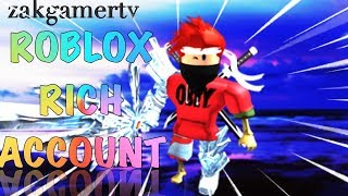 ROBLOX RICH ACCOUNT GIVEAWAY 2019 / roblox account giveaway 2019