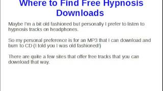 Where to Find Free Hypnosis Downloads