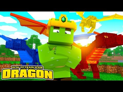 THE KING OF DRAGONS!  How To Train Your Dragon Minecraft