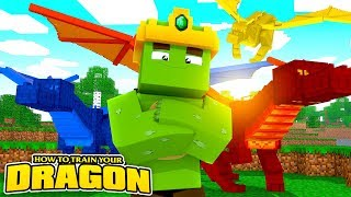 THE KING OF DRAGONS! - How To Train Your Dragon Minecraft thumbnail