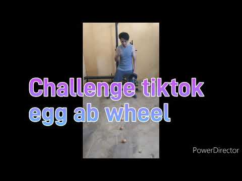 Challenge 5 Egg Ab wheel/cuba berapa kali baru berjaya/viral tiktok challenge egg ab wheel