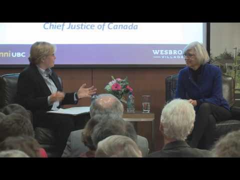 Wesbrook Talks – The Right Honourable Beverley McLachlin, P.C.