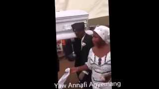 Ghanaian dancing with Coffin at Funeral