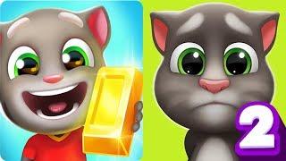 Talking Tom Gold Run vs My Talking Tom 2 Android Gameplay 2019 #34