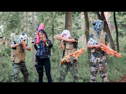MASK Nerf War : Special Task Warrior Alpha Nerf Guns Fight Crime Mask Rescue Relatives 2