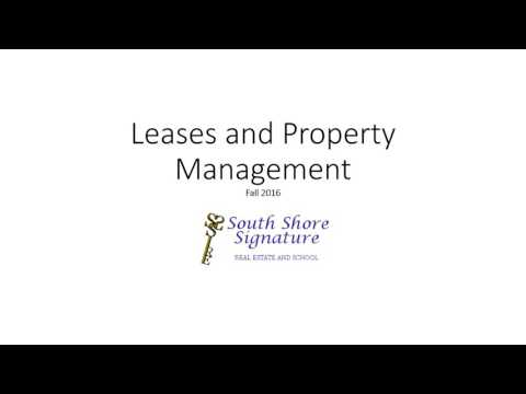 Leases, Property Management 2016