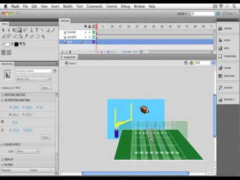 32. Adobe Flash - Introducing the 3D Tools